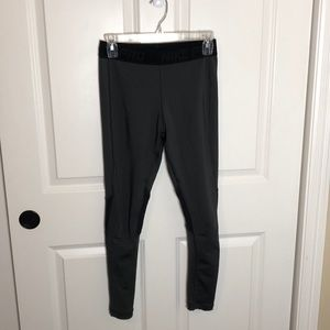 Nike grey leggings with black waistband